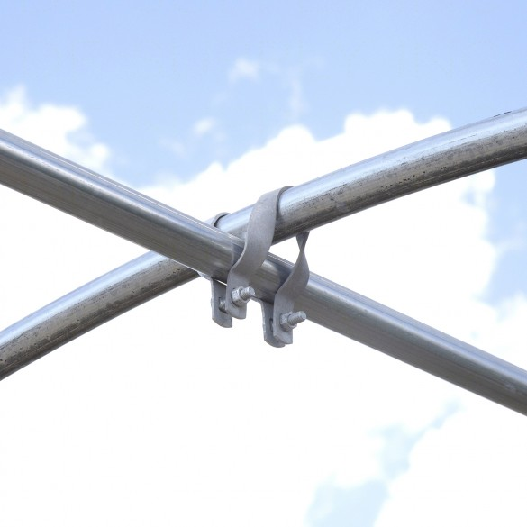 "1 3/8"" x 1 3/8"" Cross-Connector (Purlin Bracket) For Greenhouse (Carriage Bolts and Nuts Sold Separately)"