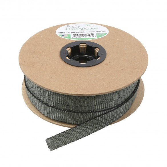 """Jiggly Greenhouse® Tree Tie Webbing 3/4"""" Wide x 150' Long Roll"""