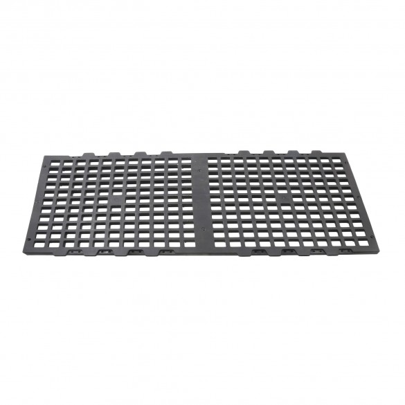 Jiggly Greenhouse® 1 1/2' x 3' Black Plastic Bench Top Panel For Greenhouses (Top Panel Only)