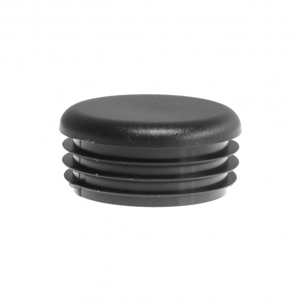 """Black Pipe Plug For 2"""" Steel Pipe [1 7/8"""" OD Actual] - Internal Pipe Cap (Polyethylene) Jiggly Greenhouse®"""