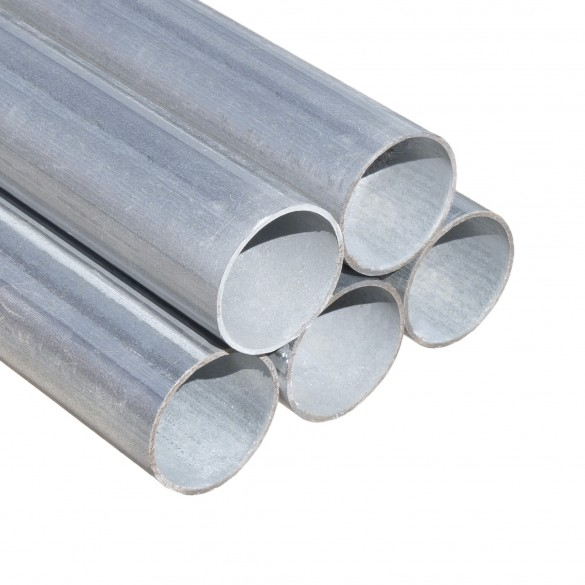 """10' 6"""" Long x 1 3/8"""" Round Greenhouse Frame Galvanized Tubing Pipe [0.055"""" Wall] Galvanized Steel Jiggly Greenhouse®"""