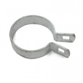 "2 1/2"" [2 3/8"" OD] Brace Band End Connector [12 Gauge] - Rail End Band (Galvanized Steel) Jiggly Greenhouse®"