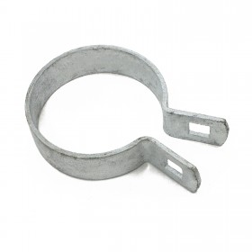 "2"" [1 7/8"" OD] Brace Band End Connector [12 Gauge] - Rail End Band (Galvanized Steel) Jiggly Greenhouse®"