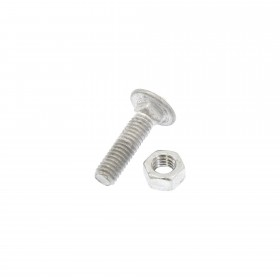 """Jiggly Greenhouse 5/16"""" x 1 1/4"""" Carriage Bolt & Nut HDG - Galvanized"""