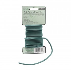 16.4' Long Soft Touch Twist Ties - Green Plant Tie Wire For Staking & Tying Vegetation Jiggly Greenhouse®