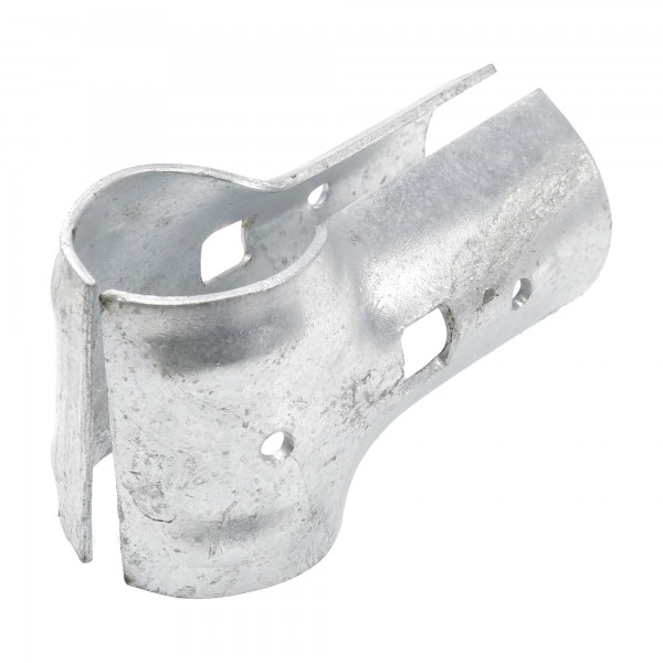 "1 3/8"" x 1 3/8"" End Rail Clamp - T Clamp For 90° Angles In Greenhouse Frame (Pressed Steel) Jiggly Greenhouse®"