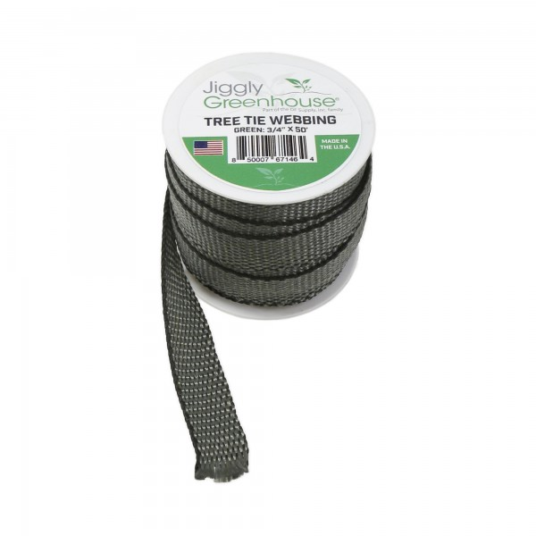 "Jiggly Greenhouse® Tree Tie Webbing 3/4"" Wide x 50' Long Roll"