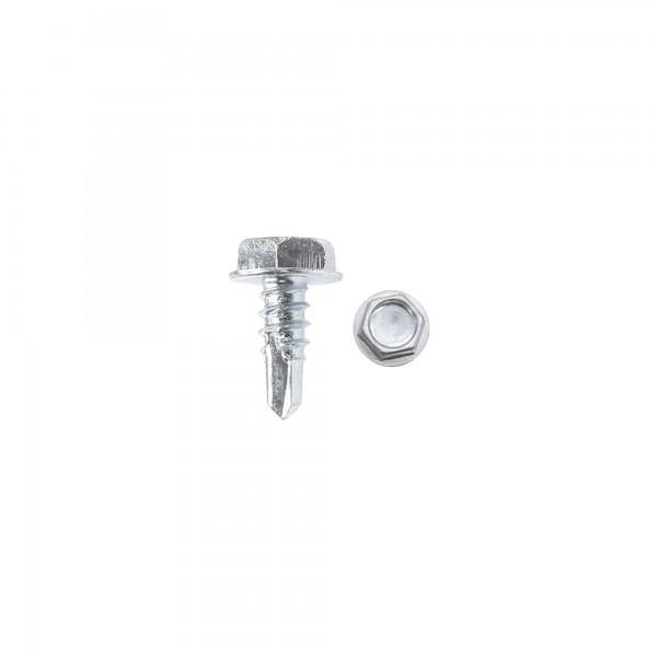 "1/2"" #10 Hex Zinc Plated Steel Self-Tapping Tek Screw (Washer Head)"