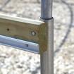 Jiggly Greenhouse® Aluminum Locking U-Channel For Jiggly Greenhouse® Jiggly Wire (6.5 ft.) - JG-JWC66A