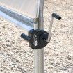 """Manual Hand Crank Winch For Greenhouse Sidewall Ventilation - Attaches To 3/4"""" [1"""" OD] EMT Conduit Jiggly Greenhouse® (Installation Shown As Example)"""