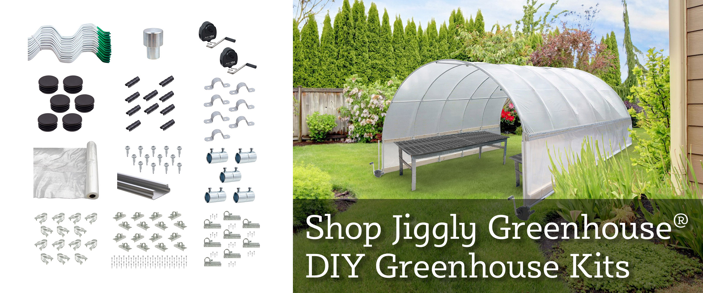 Check Out Our Jiggly Greenhouse DIY Greenhouse Kits!